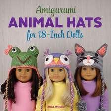Amigurumi Animal Hats for 18-Inch Dolls