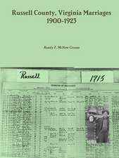 Russell County, Virginia Marriages, 1900-1923