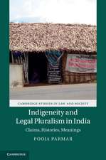 Indigeneity and Legal Pluralism in India: Claims, Histories, Meanings