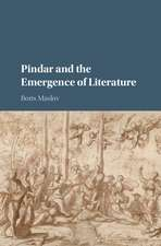 Pindar and the Emergence of Literature