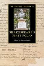 The Cambridge Companion to Shakespeare's First Folio