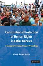 Constitutional Protection of Human Rights in Latin America: A Comparative Study of Amparo Proceedings
