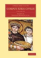 Corpus iuris civilis 3 Volume Set