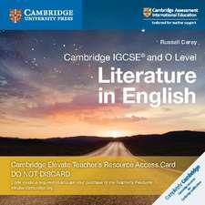 Cambridge IGCSE® and O Level Literature in English Cambridge Elevate Teacher's Resource Access Card