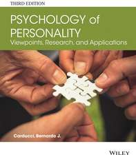 Psychology of Personality: Viewpoints, Research, and Applications