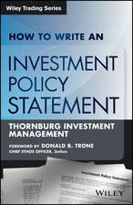 How to Write an Investment Policy Statement