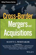 Cross–Border Mergers and Acquisitions