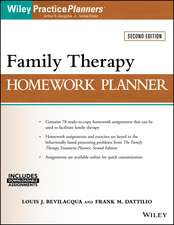 Family Therapy Homework Planner