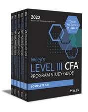 Wiley′s Level III CFA Program Study Guide 2022: Complete Set
