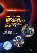 Modelling, Simulation and Control of Two–Wheeled Vehicles