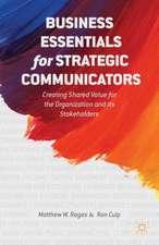 Business Essentials for Strategic Communicators