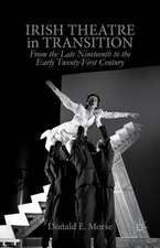 Irish Theatre in Transition: From the Late Nineteenth to the Early Twenty-First Century