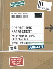 Operations Management: An International Perspective