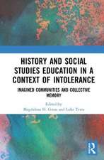 HISTORY AND SOCIAL STUDIES EDUCATIO