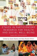 Ethics in Participatory Research for Health and Social Well-Being