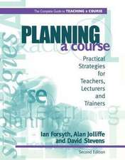 Planning a Course