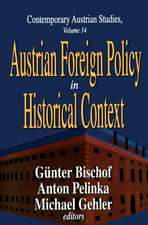 Austrian Foreign Policy in Historical Context
