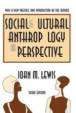 Social and Cultural Anthropology in Perspective