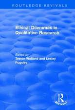 ETHICAL DILEMMAS IN QUALITATIVE RES
