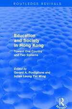 Education and Society in Hong Kong: Toward One Country and Two Systems