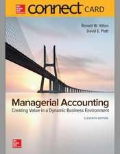 Connect 1-Semester Access Card for Managerial Accounting