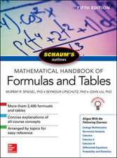 Schaum's Outline of Mathematical Handbook of Formulas and Tables: 5th Edition