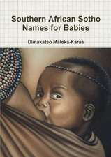 Southern African Sotho Names for Babies