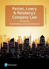 Lowry, J: Pettet, Lowry & Reisberg's Company Law, 5th editio