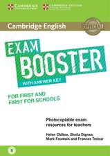 Cambridge English Exam Booster for First and First for Schools with Answer Key with Audio: Photocopiable Exam Resources for Teachers