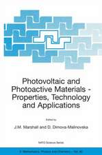 Photovoltaic and Photoactive Materials: Properties, Technology and Applications