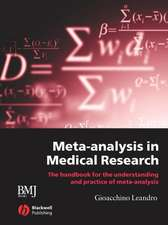 Meta–analysis in Medical Research: The Handbook for the Understanding and Practice of Meta–analysis