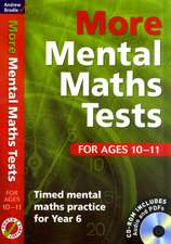 Brodie, A: More Mental Maths Tests for Ages 10-11