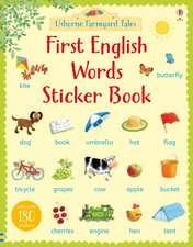 Farmyard Tales First English Words Sticker Book