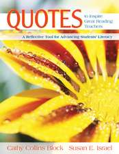 Quotes to Inspire Great Reading Teachers: A Reflective Tool for Advancing Students' Literacy