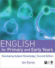 English for Primary and Early Years: Developing Subject Knowledge