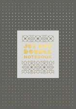 Jot Dot Doodle Notebook (Gray and Gold)