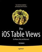 Pro iOS Table Views