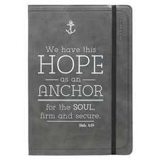 Journal - Lux-Leather - Black Hope/Anchor