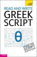Read and Write Greek Script: Teach Yourself