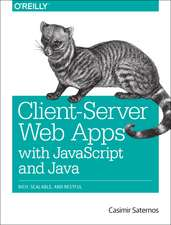 Client–Server Web Apps with JavaScript and Java