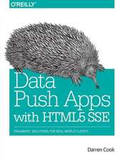 Data Push Apps Using HTML5 SSE