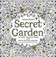Calendar de perete Secret Garden 2018