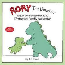 Rory the Dinosaur 2019-2020 Square Family Calendar