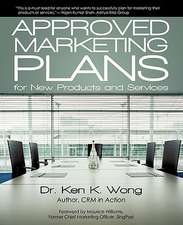 Approved Marketing Plans for New Products and Services