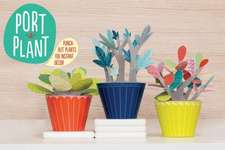 Port-A-Plant:  Punch-Out Plants for Instant Decor! [With Paper Stems, Colorful Leaves and 3 Punch-Out Paper Pts]