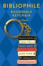 Bibliophile Bookshelf Keychain