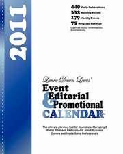 Event Editorial & Promotional Calendar 2011