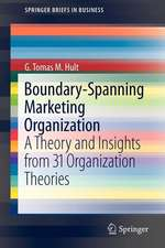 Boundary-Spanning Marketing Organization: A Theory and Insights from 31 Organization Theories