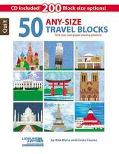 50 Any-Size Travel Blocks [With CDROM]:  Best of Sew News
