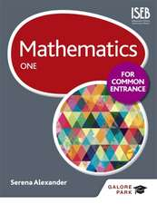 Mathematics for Common Entrance One